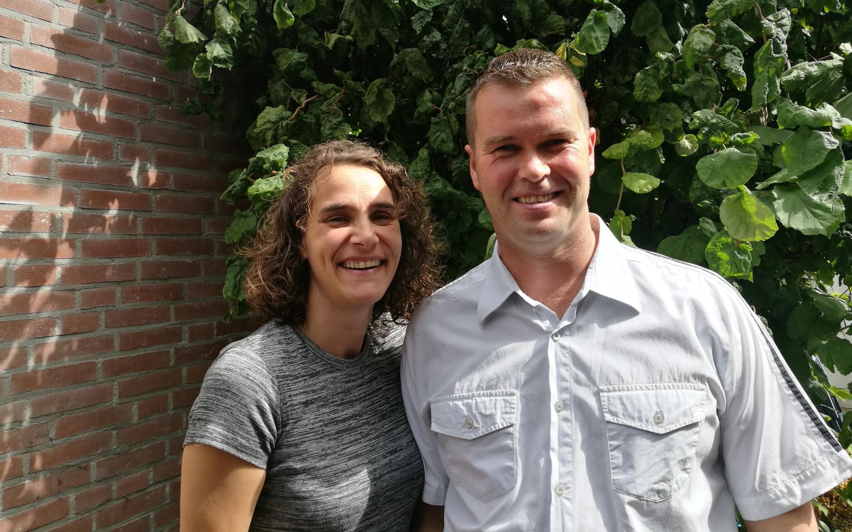 André Kager en Willeanne Kager-Swanink gezinsouders gezinshuis t SwaneNest